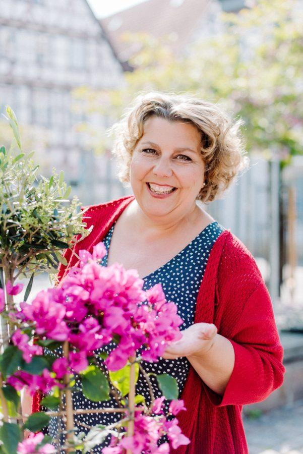 Brandingfotos Frau und Blumen