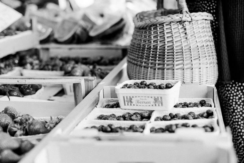 Brandingfotos Wochenmarkt Blaubeeren Korb