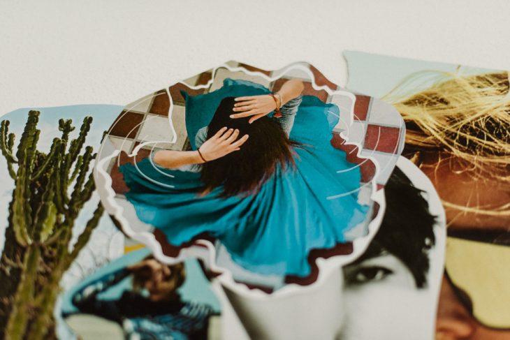 Teil meines 2020 Vision Board Tanzende Frau