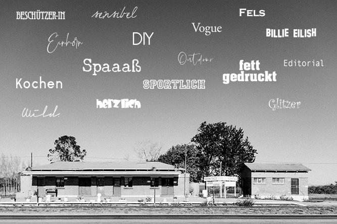 Branding Keywords Bahnhofstation schwarz-weiß