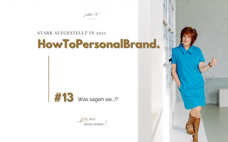 Feedback HowToPersonalBrand Personal Branding Markenbildung Blogserie