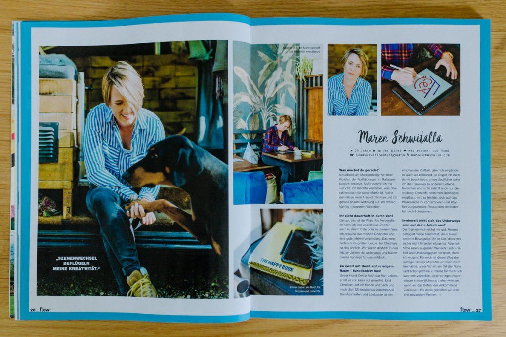 flow Magazin Kitty Fried Interview Grafikdesign Maren Schwitalla